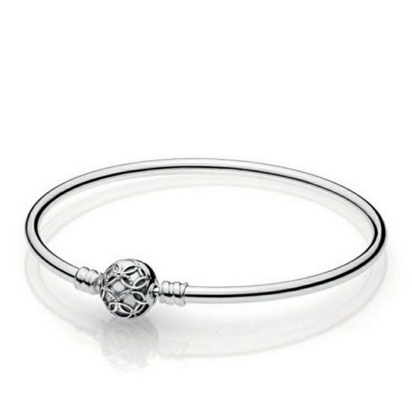 new list detailed images really cheap Pandora Jewelry | Pattern Of Love Bangle Bracelet | Poshmark